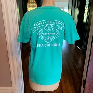 Auburn Alpha Chi Omega Sorority T-shirt M EUC